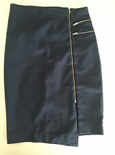 TEMT  navy blue stretch skirt with zip detail BNWT rrp $34.95 FREE POST!