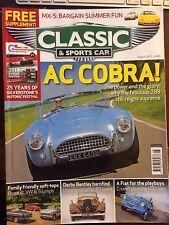 Classic & Sports Car August 2015 AC Cobra Fiat 600 Jolly MX5 Subaru SVX Lotus