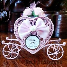 5Pcs Pink Cinderella Carriage Candy Chocolate Box Birthday Wedding Party Favor