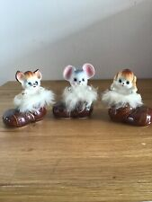 Vintage Retro Ornaments Simco Japan 1950s Kitsch 1960s Fur Cat Dog Mouse Cute