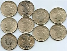 10 1922 Silver Peace Dollars. Mid to High Grade. Lot #2675