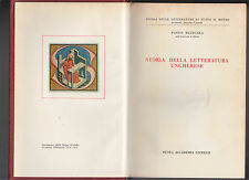 P. RUZICSKA-STORIA DELLA LETTERATURA UNGHERESE-CASA ED. ACCADEMIA 1963-L3455