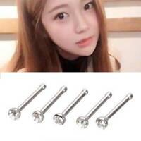 24Pcs Crystal Rhinestone Nose Lip Ring Bone Studs Steel Body Piercing Jewelry