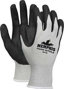 Mens MCR Safety Memphis Foam Nitrile Work Gloves  Choose Size S, M, or XL