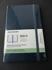MOLESKINE WEEKLY HORIZONTAL DIARY / PLANNER 2020-21  A5 Hardcover Saphir