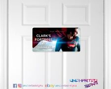 Personalised childrens man cave game room door sign plaque DC comics Superman