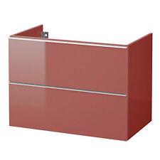 IKEA GODMORGON lavabo avec meuble 80x47x58 évier de dessous Rouge NEUF