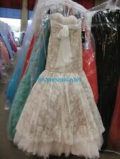 Sherri Hill 21010 Ivory Nude Gala Pageant Wedding Gown Dress sz 2