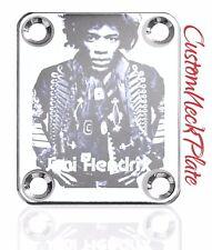 Chrome Engraved Jimi Guitar Neck Plate  fits Fender tele/strat/squier
