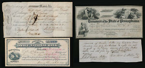 (1841-1885) 3 CHECKS & 1 ESTATE DOCUMENT > IOWA ALABAMA PENNSYLVANIA > NO RSRV