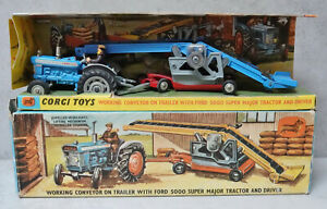 Corgi GS 47 Gift Set Conveyor On Trailer Ford 5000 Super Major Tractor  NM Boxed