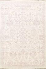 BLACK FRIDAY DEAL Geometric Moroccan Oriental Area Rug Ivory Wool Handmade 8x10