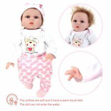 22'' Reborn Baby Dolls Lifelike Vinyl Silicone Newborn Girl Doll Gifts Kids vK
