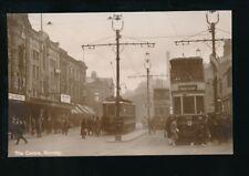 Lancs Lancashire BURNLEY The Centre Trams #72 #68 #62 RP PPC