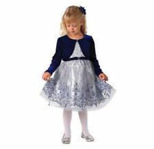 Jona Michelle 2-Piece Dress With Diaper Cover Girls' Holiday Dress, Silver 24M