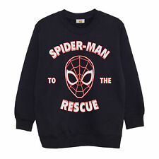 Official Kids Marvel Spiderman Sweatshirt To The Rescue Boys Girls Jumper