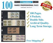 25 LIGHTHOUSE Vario 4s Black 4 Rows for STAMPS Paper Money Professional Pack