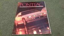 1989 PONTIAC RANGE USA BROCHURE Bonneville Grand Prix Firebird 6000 Grand Am