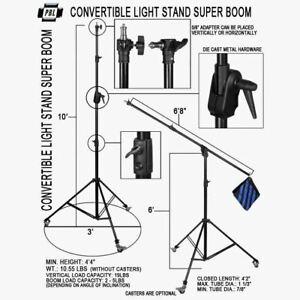 Boom Heavy Duty 10ft Light Stand Metal Locking Collars Sandbags Steve Kaeser
