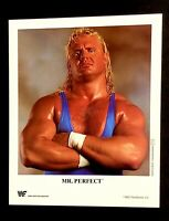 WWE MR PERFECT P-117 OFFICIAL LICENSED ORIGINAL 8X10 PROMO PHOTO VERY RARE 1993