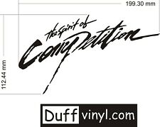 The Spirit Of Competition - Mitsubishi - Ralliart Car Vinyl Decal Sticker 200mm