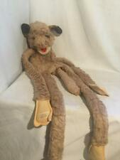 Vintage Furry Huggems Brown DOG Puppet 1980 Wraparound Velcro 40""