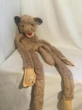 "Vintage Furry Huggems Brown DOG Puppet 1980 Wraparound Velcro 40"""
