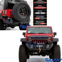 Front+Rear Bumper+Swing Tire Carrier+DUAL LED TailLight  for 07-18 JK Wrangler