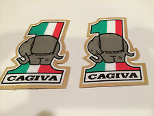 Cagiva  Vintage Decals , new re-produced , super thick , sticky material .