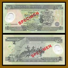 Solomon Islands 2 Dollars, 2001 P-23 Specimen Polymer Unc