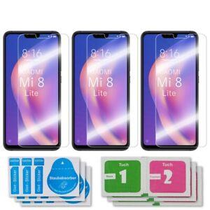 3x Xiaomi Mi 8 Lite Schutzglas 9H Echtglas Panzerfolie Displayschutz