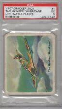 1940 Cracker Jack U.N. Battle Planes V407 #1 The Hawker Hurricane Graded PSA 5
