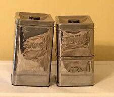 Vintage Aluminum Kitchen Canister Set Garner Ware Sugar Coffee Tea