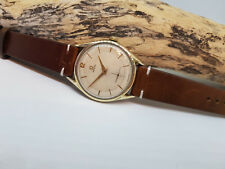 VINTAGE 1954 LARGE OMEGA SILVER DIAL GOLD CAP CAL:266 MANUAL WATCH