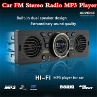 1Din Hi-Fi 2 Speaker Car FM Stereo Radio MP3 Player Bluetooth Audio USB TF-card