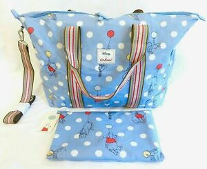 Cath Kidston Disney Winnie The Pooh Bag Blue Travel Handbag Overnight Foldaway
