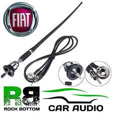 FIAT DUCATO AM/FM Rubber Mast Roof/Wing Mount Car Radio Aerial Antenna CHROME