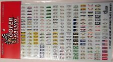 Gofer 11001 License Plates and Vanity Plates Decal Sheet 1/24 and 1/25