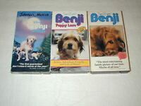 BENJI KIDS, FAMILY MOVIES 5 MOVIES ON 4 TAPES VHS RARE, OOP, HTF