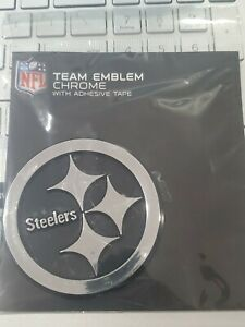 New Pittsburgh Steelers Silver Chrome Auto Team Emblem