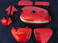 Honda CB 750 four k0 charol frase Candy Ruby Red painted body set incl. Wrinkle Tank