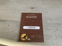 Passeport figurine Tintin n°19425. Tintin. Commune de Moulinsart.