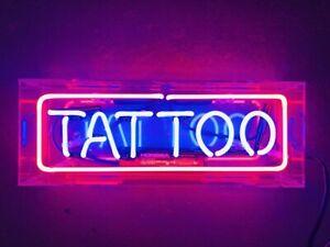 New Tattoo Beer Neon Light Sign Lamp Pub Acrylic Box Decor Artwork