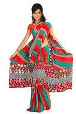 Dyuti Georgette Printed Casual Saree Sari Bellydance fabric