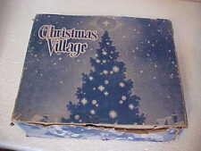 10 Vintage Cardboard Christmas Tree Putz Houses w/Original Box Mica & Snow