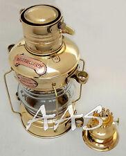 "14"" Antique Brass Leeds Burton Ship Nautical Boat Kerosene Lamp Lanterns Lights"