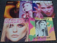 """DEBBIE / DEBORAH HARRY - 5 x 7"""" Vinyl Record Job Lot (BLONDIE)"""