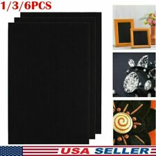 1/3/6X Craft Black Adhesive Soft Back Felt Sheets Fabric Sticky Back Sheets US