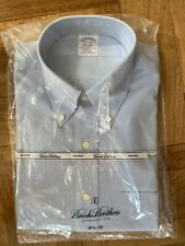 Brooks Brothers Men's Blue Dress Shirt  15-1/2 x 33 NEW IN PACKAGE