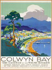 Colwyn Bay Wales Great Britain UK Vintage Travel Advertisement Poster Print
